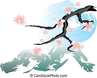 roze, lentebloemen