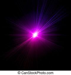 roze, licht, vector, effect., vuurpijl