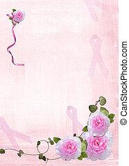 roze, linten