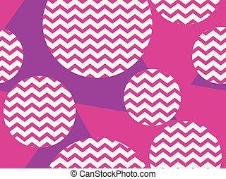 roze, model, abstract, seamless, zigzag, color., vector, illustratie, achtergrond, viooltje, circles., geometrisch