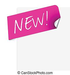 roze, nieuw product, enig, etiket