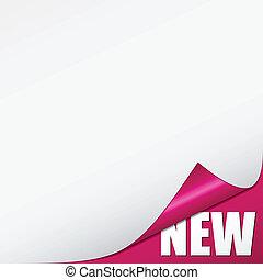 roze, nieuw, vector, hoek