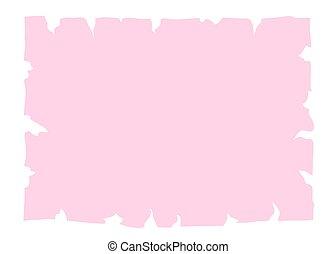 roze, oud, papier, spandoek, perkament