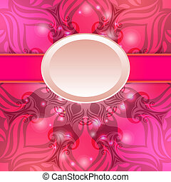 roze, ouderwetse , vector, abstract, achtergrond