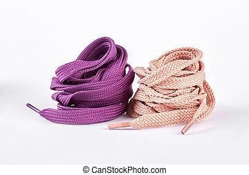 roze, paarse , laces., schoen, ronde