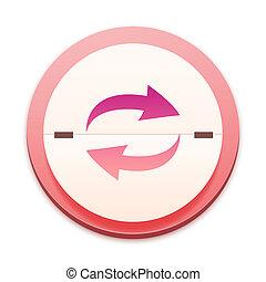 roze, pictogram, de, geheel, reeks, op, 300, selectable
