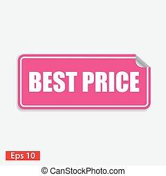 roze, plein, prijs, vrijstaand, witte , sticker, best
