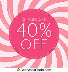 roze, poster, zonnestraal, verkoop