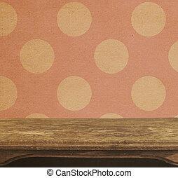 roze, punten, ouderwetse , polka, seamless, achtergrond, tafel, patten