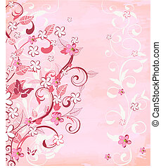 roze, romantische, achtergrond