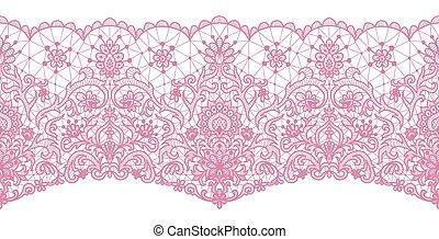 roze, seamless, kant