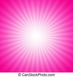 roze, starburst, effect, achtergrond