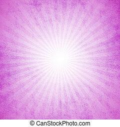 roze, starburst, grunge, effect, achtergrond