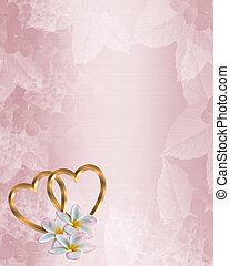 roze, trouwfeest, satijn, uitnodiging