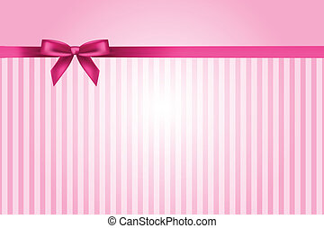 roze, vector, achtergrond, boog