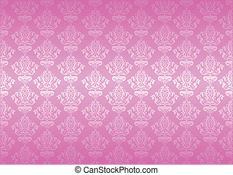 roze, vector, behang