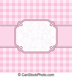 roze, vector, frame., illustration.