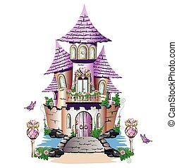 roze, verhaal, elfje, kasteel