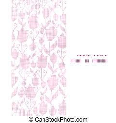 roze, verticaal, tulpen, frame, seamless, textuur, textiel, achtergrondmodel