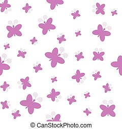 roze, vlinder, witte achtergrond