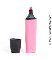 roze, vrijstaand, highlighter
