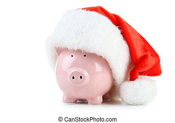 roze, witte , vrijstaand, bank, piggy