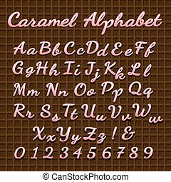 roze, zoet, lettertype, versuikeren, lettering