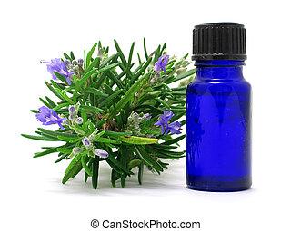 rozemarijn, kruid, &, olie
