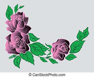 rozen, abstract, hoek