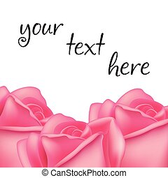 rozen, frame, vector, text., ruimte