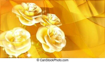 rozen, gele