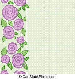 rozen, grens, verticaal