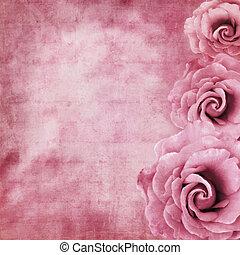 rozen, grunge, achtergrond