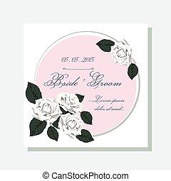 rozen, huwelijk uitnodiging