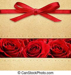 rozen, karton, rode boog