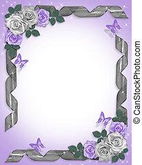 rozen, linten, grens, lavendel