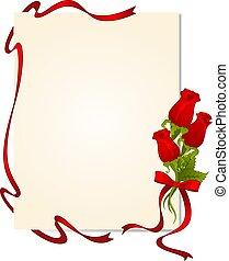 rozen, met, kant, versieringen