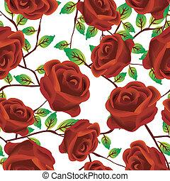 rozen, op, witte , model