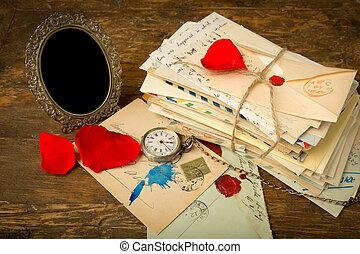 rozen, oud, brieven