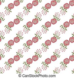 rozen, seamless, achtergrond, rood