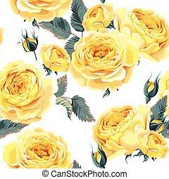 rozen, seamless, engelse