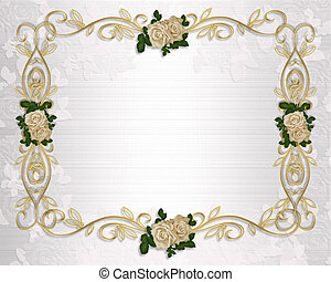 rozen, uitnodiging, trouwfeest
