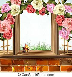 rozen, venster