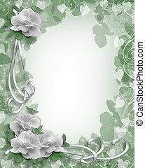 rozen, witte , grens, trouwfeest