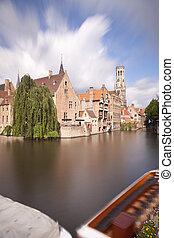 Rozenhoedkaai In Bruges Long Exposure