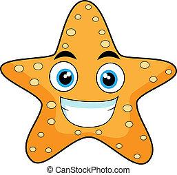 rozgwiazda, patrząc, sprytny