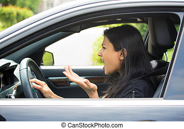 rozhněvaný, šofér
