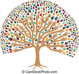 rozmaitość, drzewo, odizolowany, siła robocza