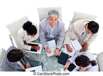 rozmaity, spotkanie, handlowy, grupa