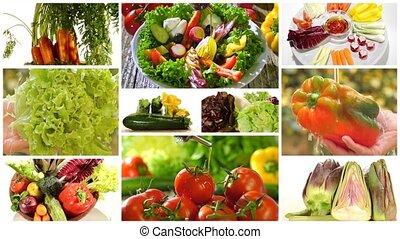 rozmaity, warzywa, i, mieszana sałata